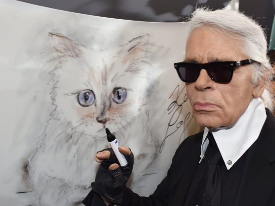 "Choupette was Karl Lagerfeld's one true love. The fashion icon even once said he would marry his cat if it were legal. ""There is no marriage, yet, for human beings and animals… I never thought that I would fall in love like this with a cat,"" Lagerfeld admitted. (Photo: Instagram)"