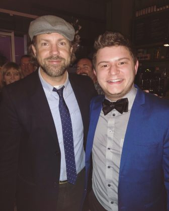 "Chrissy is not exactly the only famous person Hal knows. He was involved with the music of ""Kodachrome"" and shared a photo on Instagram of himself and the movie's star, Jason Sudekis. (Photo: Instagram)"