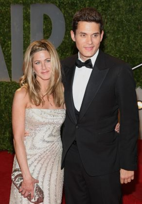 "Jennifer Aniston and John Mayer had an on-again, off-again relationship from 2008 to 2009. Following their split, the singer admitted in an interview he was ""just a jerk"" while they were dating. (Photo: WENN)"