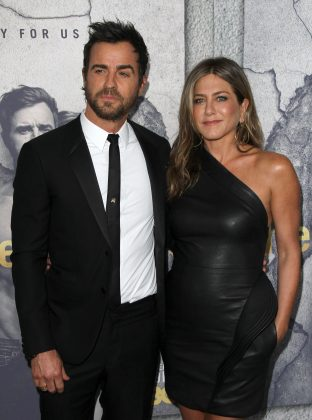 "Jennifer Aniston started dating her Wanderlust co-star Justin Theroux in 2001. The couple became in 2012 and married in 2015. However, the couple announced their separation in 2018, saying the ""decision was mutual and lovingly made."" (Photo: WENN)"