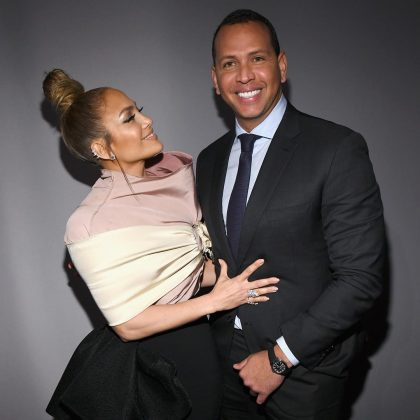 "Jennifer Lopez and her ""handsome Macho lindo"" at Elle's Women in Hollywood event. (Photo: Instagram)"