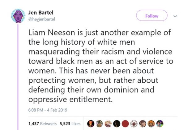 """Notice how his first reaction wasn't """"what can I do to help you heal and recover."""" It was """"I must respond to this act of dishonor with retaliatory violence so machismo is appeased."""" (Photo: Twitter)"""