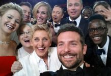 In 2014, Ellen DeGeneres staged several viral and charming jokes, including delivering pizzas to audience members and staging one epic selfie that would go down in history. (Photo: Release)