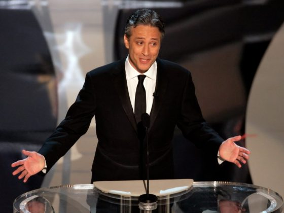 Following his 2006 gig, Jon Stewart returned in 2008, with all the fanfare of an election year. The audience seemed to take him more and he gained more positive reviews. (Photo: Release)