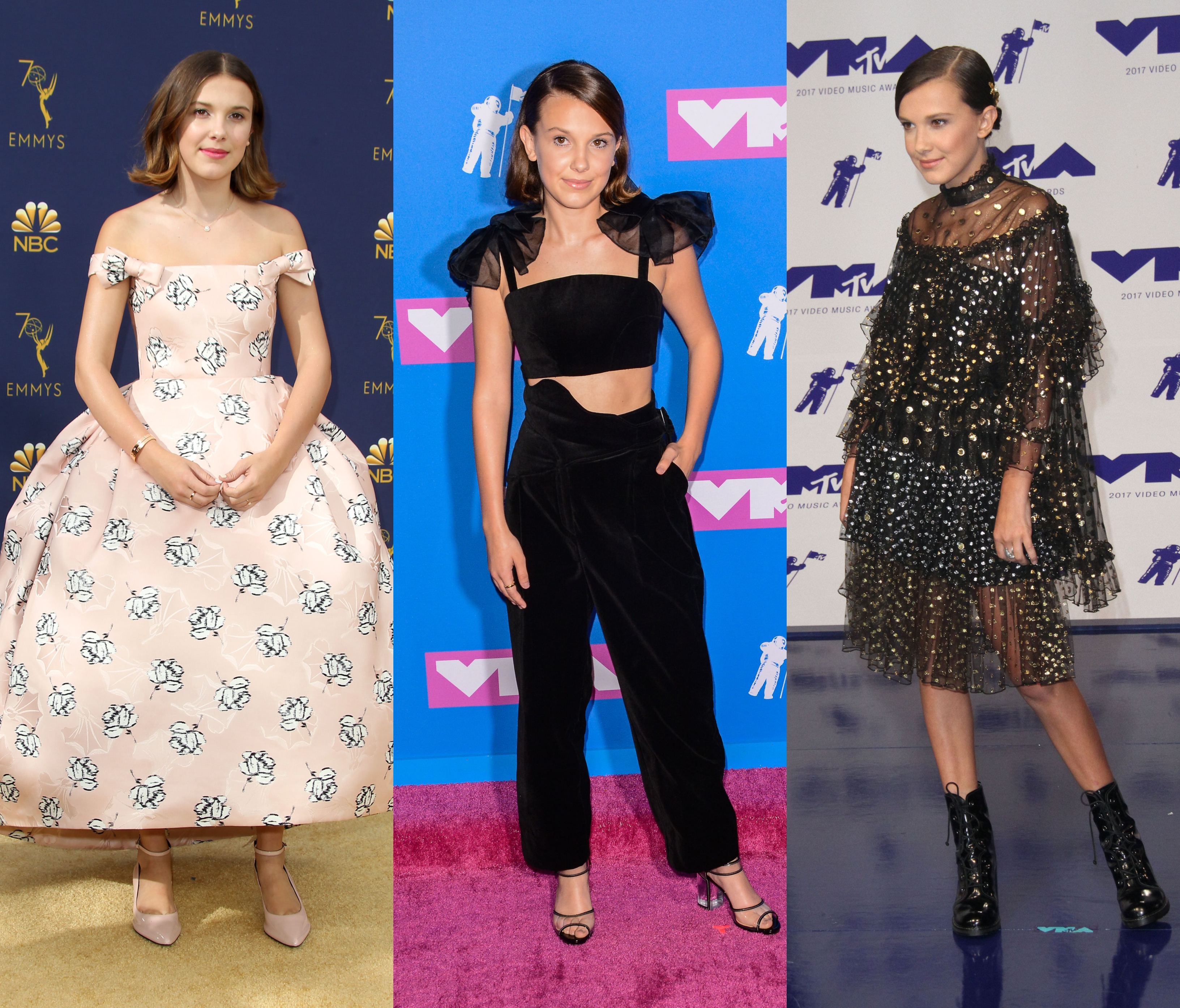 Stranger Fashion Our 12 Favorite Red Carpet Looks By Millie Bobby Brown Jetss