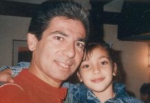A sweet picture of Kimberly and her dad when she was just a little girl. (Photo: Instagram)