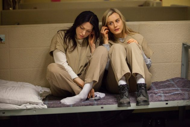 Piper and Alex from 'Orange Is The New Black' are so toxic together they literally end up going to jail. I mean—their relationship began with Alex bringing Piper into the drug ring she works for. What else could we expect? (Photo: Release)