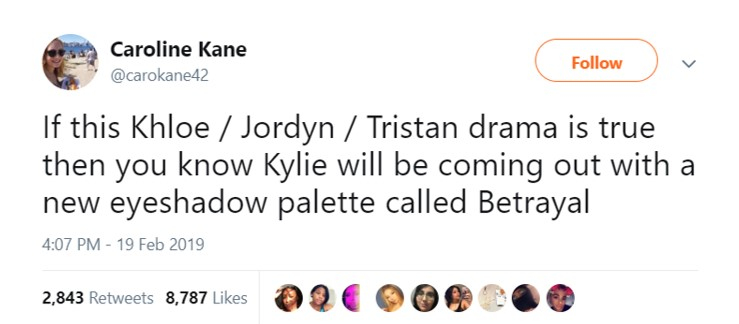 And completely remove her previous colab with Jordyn off the shelves. (Photo: Twitter)