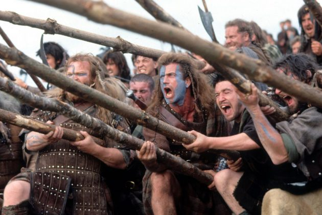 """""""Braveheart"""" (1996). Mel Gibson certainly knows how to stage a battle scene. Whether that qualifies his film for a Best Picture Oscar is another matter. (Photo: Release)"""
