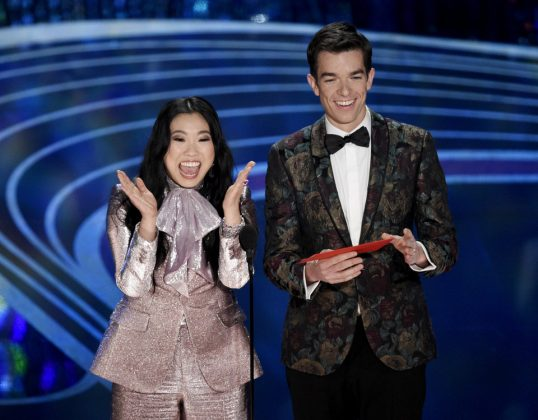 "Awkwafina and John Mulaney ""happy for just being here"" act was utter cringe. Just when we thought we had saved ourselves the pain of the awkward jokes with this host-less formant. (Photo. Release)"