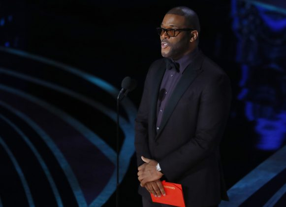 Only Tyler Perry called out the Academy when he presented the Oscar for Best Cinematography. He commented on what an honor it was to 'present this award live on camera—not during the commercial break, so thank you, Academy!' (Photo: Release)