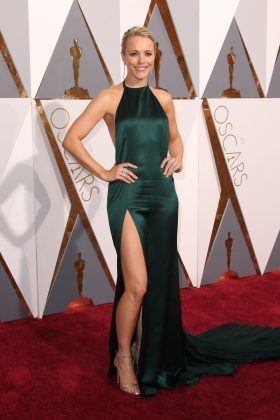 Rachel McAdams most memorable red carpet look was her teal August Getty Oscars gown at the 2016 Oscars ceremony. (Photo: WENN)