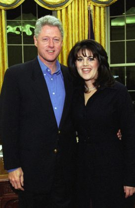 In 1998, Monica Lewinsky claimed to have had sexual encounters with Bill Clinton on nine different occasions. The affair that nearly ended a presidency! (Photo: WENN)