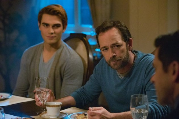 Luke Perry, who starred as Archie's dad, Fred Andrews, on 'Riverdale', died of a sudden and fatal stroke earlier this week. Production of the show remains shut down as the actor's friends and co-stars mourn him. (Photo: Release)