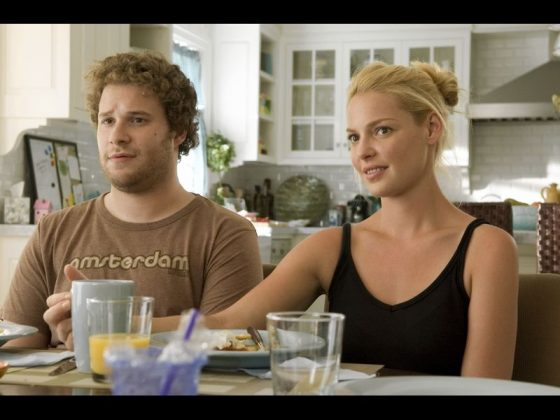 "Katherine Heigl isn't too proud of starring in 'Knocked Up.' ""It was a little sexist. It pains the women as shrews, as humorless and uptight. I had a hard time with it, on some days. I'm playing such a b*tch; why is she being such a killjoy?"" (Photo: Release)"