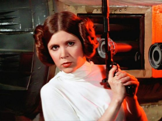 """Despite the film's huge success, this was actually a big reason why Carrie Fisher regretted playing Princess Leia. In an interview with Today, the actress said, """"I wish I'd turned down 'Star Wars.'"""" (Photo: Release)"""