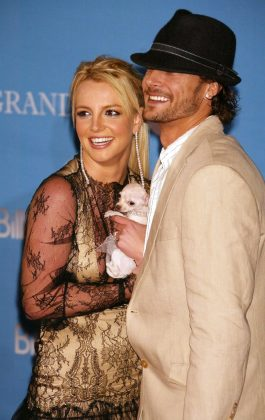 """Britney Spears married Kevin Federline only five months after they met. They had two children together, but divorced after two and a half years of marriage. """"I just did it for the idea of everything."""" (Photo: WENN)"""