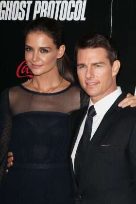 "Katie Holmes and Tom Cruise got engaged within two months of meeting each other. The reason? ""Every little girl dreams about her wedding. I sued to think I was going to marry Tom Cruise."" They divorced in 2012. (Photo: WENN)"