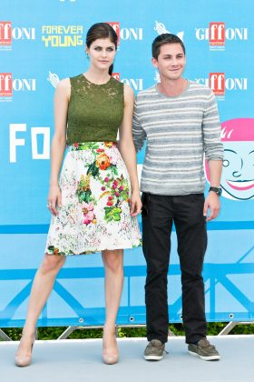 Alexandra dated fellow actor Logan Lerman for six years. The couple was engaged for a year before breaking up in 2015. (Photo: WENN)