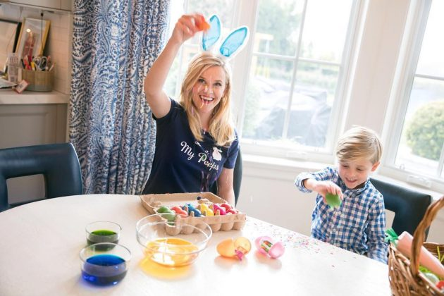 In an interview with Vogue, Reese Witherspoon revealed that her favorite holiday is Easter. Like the good southern woman that she is, every year, the actress enjoys hunting Ester eggs with her family. (Photo: Instagram)