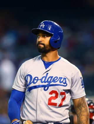 Rounding third base (GET IT?!) and completing the athlete trifecta is professional baseball player Matt Kemp. Kardashian And Kempt went out on a few dates after filing her divorce from Odom, alerting fans she was seriously done with her marriage. (Photo: WENN)