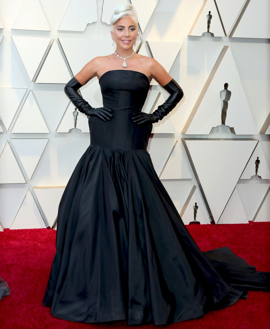 0d17fe429ae1 Lady Gaga became an Oscar winner in an Alexander McQueen black strapless  dress and the legendary
