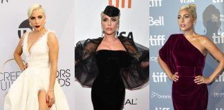 In honor of her 33rd birthday, we've narrowed 15 of the best Lady Gaga red carpet looks of the last year. (Photo: WENN)