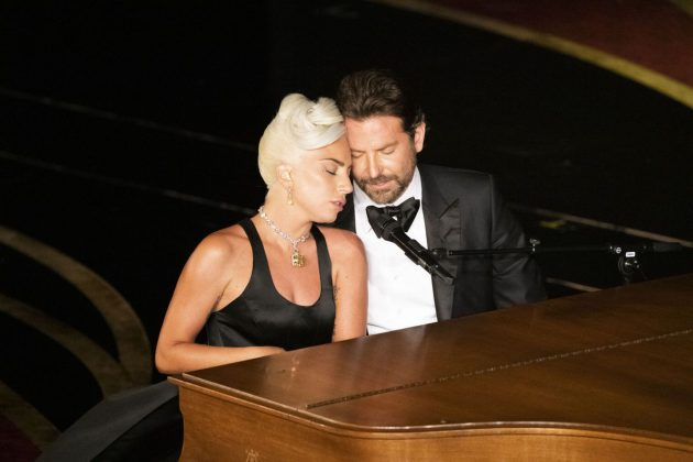 "Gaga and Cooper sparked relationship rumors after an intimate Oscar performance of ""Shallow."" (Photo: WENN)"