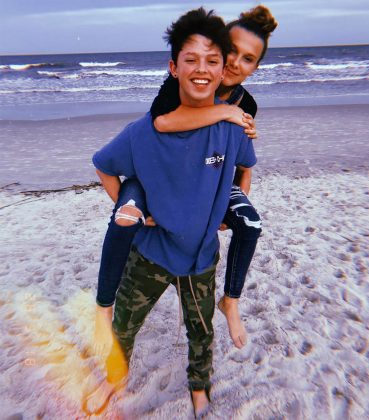"""The decision with Jacob and I was completely mutual,"" Millie said at the time. ""We are both happy and remaining friends."" (Photo: Instagram)"