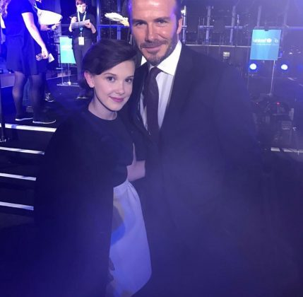 The actress met the young Beckham in 2016 when she handed an award with his father, David, at UNICEF's 70 anniversary charity gala. (Photo: Instagram)