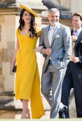 "Markle's friend George Clooney said she is being ""pursued and vilified."" (Photo: WENN)"