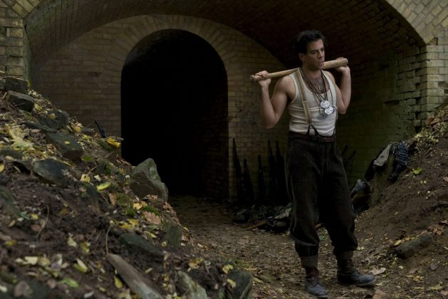 Tarantino originally wanted Adam Sandler to play The Bear Jew in 'Inglorious Basterds.' He turned it down due to scheduling conflicts. He was filming 'Funny People'—what a trade off! (Photo. Release)