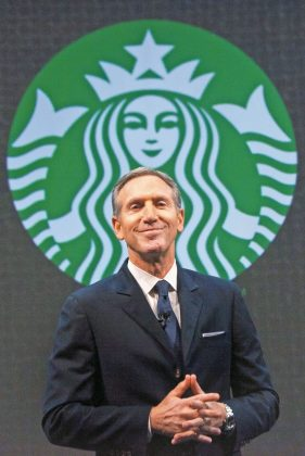 Starbucks founder Howard Schultz grew up in a housing complex for the poor. He ended up with a $2.9 billion fortune. (Photo: WENN)