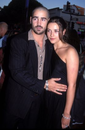 "Colin Farrell and Amelia Warner were together for 4 months—although, technically, their marriage wasn't real. According to her, their beach ceremony was ""by no means legal."" (Photo: WENN)"