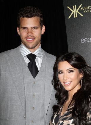 "Kim Kardashian and Kris Humphries infamously divorced 72 days after their wedding. Kim said she couldn't get off of their ""roller coaster"" romance even though she should've. (Photo: WENN)"