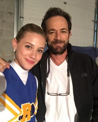 "'Riverdale' production was suspended following the unexpected death of Luke Perry. ""I'm finding it hard to grasp that he will no longer be around to give long hugs and share his wisdom and kindness with all of us,"" Lili Reinhart wrote on Twitter. (Photo: Instagram)"