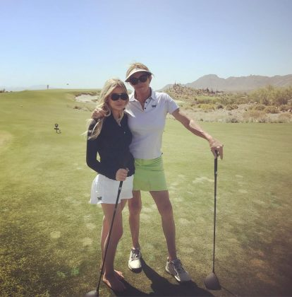 Caitlyn taught her to play golf. These days, Sophia hits the golf course at least once a month, always with her girlfriend by her side. (Photo: Instagram)