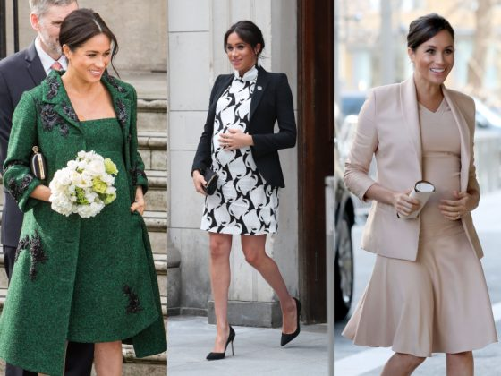 Click through our photo gallery above to see the very best of Meghan Markle's maternity looks. (Photo: WENN)