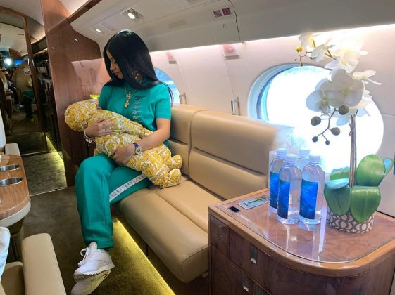 Cardi B got liposuction and breast augmentation after giving birth to her daughter. (Photo: Instagram)