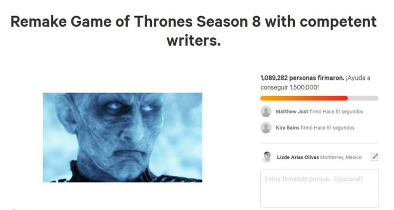 Internet users even demanded a re-write of Season 8. (Photo: Release)