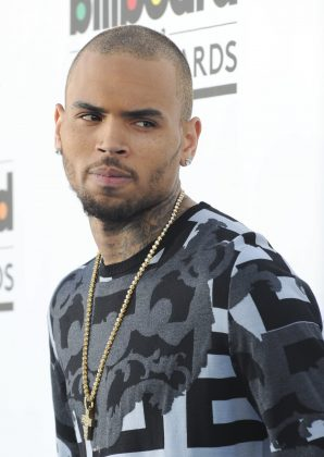 Chris Brown simply replied with a string of heart emojis. (Photo: WENN)