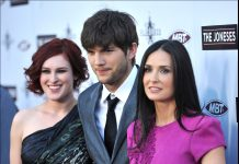 Ashton Kutcher and Rumer Willis are still friends. (Photo: WENN)