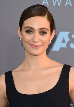 "Emmy Rossum's insister she and Chris were ""just friends."" However, the pair was spotted making out in a bar in 2007. (Photo: WENN)"