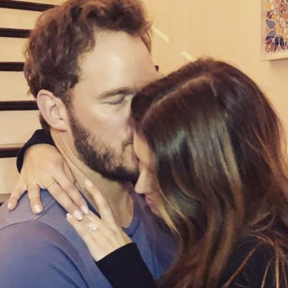 """Sweet Katherine, I'm so happy you said yes! I'm excited to marry you,"" Chris Pratt said when announcing their engagement. (Photo: Instagram)"