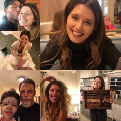 "Chris Pratt made the relationship ""Instagram official"" when he shared this adorable collage to celebrate Katherine's birthday. (Photo: Instagram)"