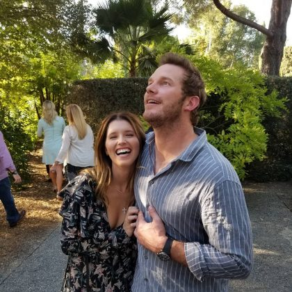 One of the first images on social media of Katherine Schwarzenegger and Chris Pratt. (Photo: Instagram)