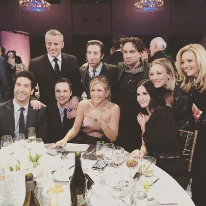 The one where Friends meets The Big Bang Theory. (Photo: Instagram)