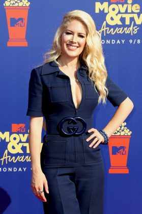 Heidi Montag should've known that the Canadian tuxedo only looks good on Britney and Justin. (Photo: WENN)