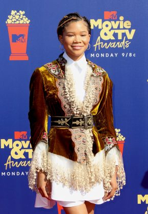 Storm Reid looks like she's just fallen out of a 19th century period piece. (Photo: WENN)