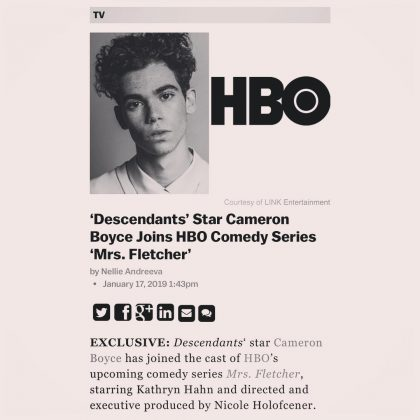 "He had a lot ahead of him. He had plans to venture outside of Disney. Cameron was due to appear in the HBO comedy series ""Mrs. Fletcher"" and was cast in the leading role of the movie ""Runt."" (Photo: Instagram)"